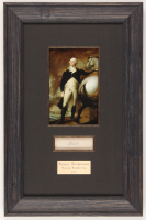 George Washington 10.25x15.75 Custom Framed Cut Display with (1) Hand-Written Word from Letter (PSA LOA Copy)