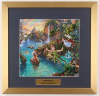 "Thomas Kinkade Walt Disney's ""Peter Pan"" 17.5x18 Custom Framed Print"