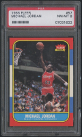 1986-87 Fleer #57 Michael Jordan RC (PSA 8)