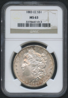 1883-CC $1 Morgan Silver Dollar (NGC MS 63)
