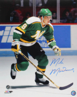 Mike Modano Signed Minnesota North Stars 16x20 Photo (TSE COA)