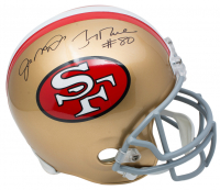 Joe Montana & Jerry Rice Signed San Francisco 49ers Full-Size Helmet (JSA COA)