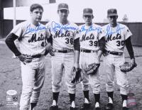 Tom Seaver, Jerry Koosman, Gary Gentry, & Nolan Ryan Signed New York Mets 11x14 Photo (JSA COA & Ryan Hologram)