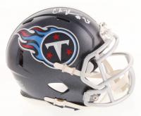 Chris Johnson Signed Titans Speed Mini Helmet (Radtke COA) at PristineAuction.com