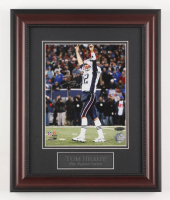 Tom Brady Signed New England Patriots 14x17 Custom Framed Photo Display (TriStar Hologram)