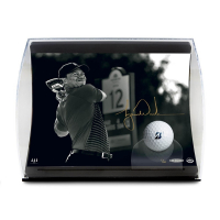 "Tiger Woods Signed ""Gold Drive"" 5.5x7x11 Limited Edition Curve Display (UDA COA) at PristineAuction.com"