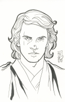 "Tom Hodges - Anakin Skywalker - ""Star Wars"" - Signed ORIGINAL 5.5"" x 8.5"" Drawing on Paper (1/1)"