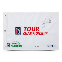 Tiger Woods Signed 2018 PGA Tour Limited Edition Pin Flag (UDA COA)