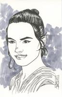 "Tom Hodges - Rey - ""Star Wars"" - Signed ORIGINAL 5.5"" x 8.5"" Drawing on Paper (1/1)"