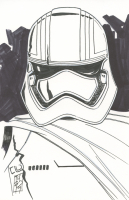 "Tom Hodges - Captain Phasma - ""Star Wars"" Signed ORIGINAL 5.5"" x 8.5"" Drawing on Paper (1/1)"