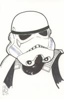 "Tom Hodges - Stormtrooper - ""Star Wars"" - Signed ORIGINAL 5.5"" x 8.5"" Drawing on Paper (1/1)"
