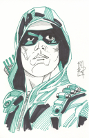 "Tom Hodges - Green Arrow - DC Comics Signed ORIGINAL 5.5"" x 8.5"" Drawing on Paper (1/1)"