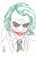 "Tom Hodges - The Joker - Heath Ledger - ""Batman"" - DC Comics Signed ORIGINAL 5.5"" x 8.5"" Color Drawing on Paper (1/1)"