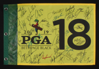 2019 PGA Bethpage Black Golf Pin Flag Signed by (43) with Rickie Fowler, Dustin Johnson, Bryson DeChambeau, Brooks Koepka, Sergio Garcia, Tommy Fleetwood (JSA ALOA)