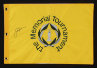 Jack Nicklaus Signed The Memorial Tournament Pin Flag (JSA ALOA)
