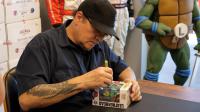 "Kevin Eastman Signed Teenage Mutant Ninja Turtles ""Leonardo"" Limited Edition Nickelodeon Hikari Funko Vinyl Figure with Hand-Drawn Turtles Sketch (PA COA) at PristineAuction.com"