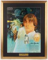 Vintage 1977 Coca Cola Star Wars 24x29 Custom Framed Poster Display