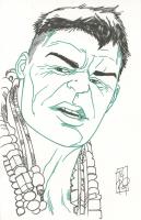 "Tom Hodges - Hulk - Marvel Comics - Signed ORIGINAL 5.5"" x 8.5"" Drawing on Paper (1/1) at PristineAuction.com"