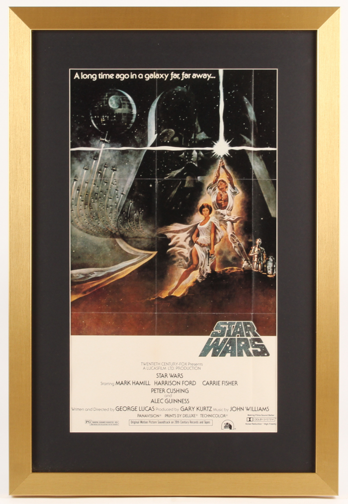 Star Wars Episode Iv A New Hope 17x25 Custom Framed Movie Poster Display Pristine Auction