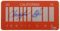 "Christopher Lloyd Signed ""Back to the Future Part II"" California License Plate (Beckett COA) at PristineAuction.com"