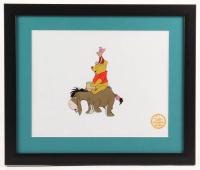 "Walt Disney's ""Winnie-the-Pooh"" 16x19 Custom Framed Hand-Painted Animation Serigraph Display"