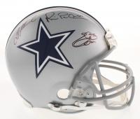 "Troy Aikman, Michael ""Playmaker"" Irvin & Emmitt Smith Signed Dallas Cowboys Full-Size Authentic On-Field Helmet (JSA, Beckett & Prova COA's)"