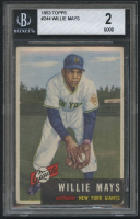 1953 Topps #244 Willie Mays (BGS 2) at PristineAuction.com
