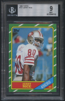 1986 Topps #161 Jerry Rice RC (BGS 9)