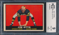 1961 Topps #182 Jim Otto RC (BCCG 9) at PristineAuction.com