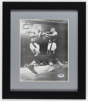 "Floyd Patterson Signed 13x15 Custom Framed Photo Display Inscribed ""Sincerely"" (PSA COA)"