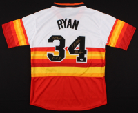 "Nolan Ryan Signed Houston Astros Majestic Jersey Inscribed ""324 Wins"", ""7 No- Hitters"", & ""5,714 K's"" (PSA COA)"