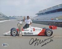 "Rick Mears Signed 8x10 Photo Inscribed ""Thanks""  (Beckett COA)"