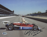 "Rick Mears Signed 8x10 Photo Inscribed ""Thanks""  (Beckett COA)"