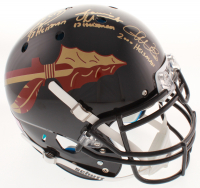 Chris Weinke, Jameis Winston & Charlie Ward Signed Florida State Seminoles Authentic On-Field Helmet with (3) Heisman Inscriptions (Radtke COA & Winston Hologram) at PristineAuction.com