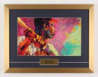 """LeRoy Neiman """"Hank Aaron"""" 16x21 Custom Framed Print Display"""