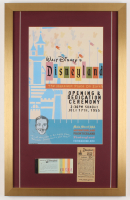 Disneyland 17x27 Custom Framed Poster Print Display with Ticket Booklet & Parking Pass