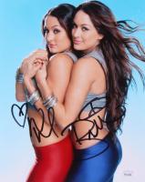 Brie Bella & Nikki Bella Signed WWE 8x10 Photo (JSA COA)