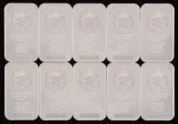 Lot of (5) 1 Troy Ounce .999 Fine Silver Sunshine Minting Bullion Bars