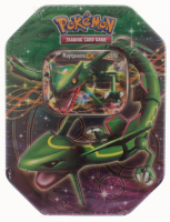 "2012 Unopened Pokemon-EX ""Rayquaza"" TCG Legendary Foil Tin"