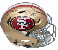 Joe Montana & Jerry Rice Signed San Francisco 49ers Full-Size Authentic On-Field SpeedFlex Helmet (JSA COA)