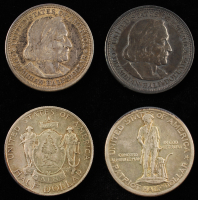 Lot of (4) Commemorative Silver Half Dollars with 1920 Maine, 1925 Lexington, 1892 & 1893 Columbian at PristineAuction.com