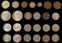 Lot of (25) U.S. Coins with 1852 Silver Three Cent Trime, 1863 Civil War Token, (3) 1883 Liberty Nickels, (2) Two Cent Pieces & More