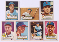 Lot of (7) 1952 Topps Baseball Cards with #225 Frank Baumholtz, #288 Chet Nichols SP RC, #204 Ron Northey