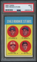 1963 Topps #537 Rookie Stars / Pete Rose RC (PSA 3)