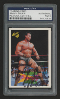 "Jimmy ""Superfly"" Snuka Signed 1990 Classic WWF #114 With Inscription (PSA Encapsulated)"