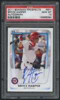 2011 Bowman Prospects #BP1 Bryce Harper Autograph (PSA 10) at PristineAuction.com