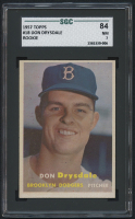 1957 Topps #18 Don Drysdale RC (SGC 7) at PristineAuction.com