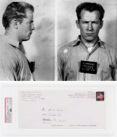 """James """"Whitey"""" Bulger Signed Original Envelope - Filled Out by Hand from Prison (PSA Encapsulated)"""
