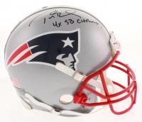 "Tom Brady Signed Patriots Full-Size Authentic Game Model SB XLIX Helmet Inscribed ""4x SB Champs"" (TriStar COA)"