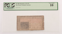 1776 15s. Fifteen Shillings New Jersey Colonial Currency Note (PCGS 10)